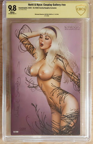 Notti & Nyce - Signed CBCS 9.8 Graded Slab - CK Shared Exclusive - Gwen Cosplay - Nathan Szerdy
