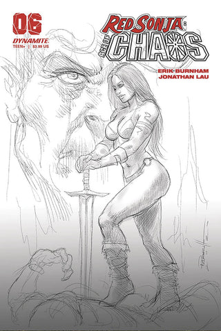 Red Sonja: Age of Chaos #6 - 1:40 Ratio B&W Variant - Lucio Parrillo