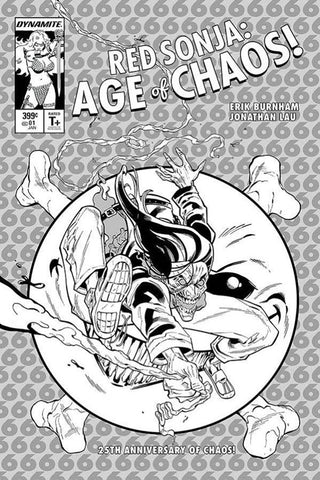 Red Sonja: Age of Chaos #1 - 1:21 Ratio B&W Variant - Cian Tormey