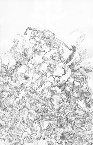 Red Sonja: Age of Chaos #6 - 1:11 Ratio Sketch Virgin Variant - Alan Quah