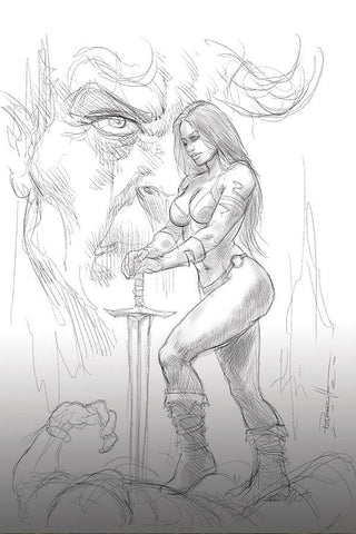 Red Sonja: Age of Chaos #6 - 1:15 Ratio B&W Variant - Lucio Parrillo