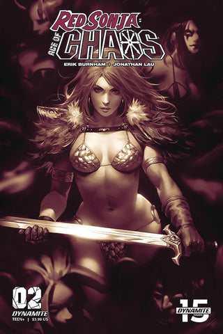 Red Sonja: Age Of Chaos #2 - 1:25 Ratio Monochromatic Variant - Derrick Chew