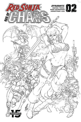 "Red Sonja: Age Of Chaos #2 - 1:50 Ratio ""Pure Pencil"" Variant - Alan Quah"