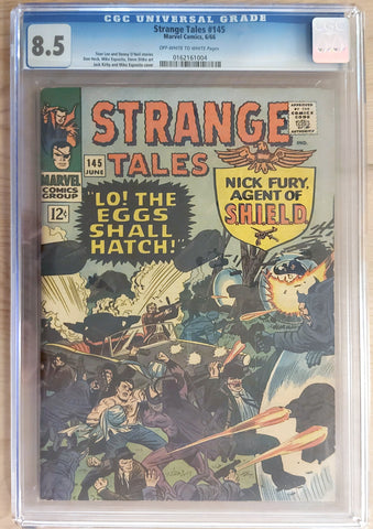 Strange Tales #145 - CGC 8.5 Graded Slab - Jack Kirby & Mike Esposito