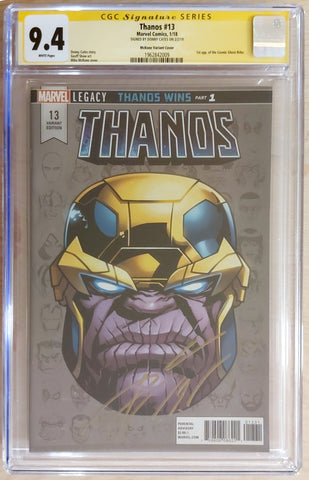 Thanos #13 - Signed by Donny Cates - 1:10 Ratio Variant - CGC 9.4 Graded Slab - Mike McKone
