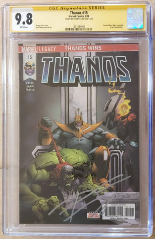Thanos #15 - Signed by Donny Cates - CGC 9.8 Graded Slab - Geoff Shaw