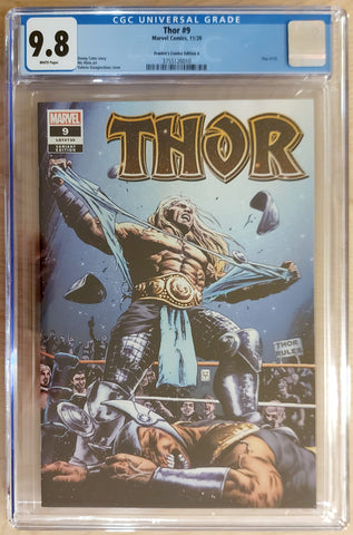 Thor #9 - CK Shared Exclusive Cover A - CGC 9.8 Graded Slab - Valerio Giangiordano