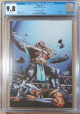 Thor #9 - CK Shared Exclusive Cover B - CGC 9.8 Graded Slab - Valerio Giangiordano