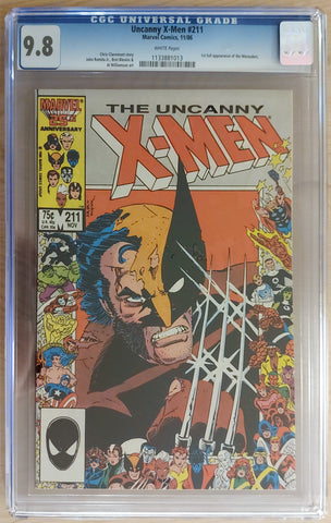 Uncanny X-Men #211 - CGC 9.8 Graded Slab - Al Williamson
