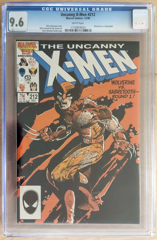 Uncanny X-Men #212 - CGC 9.6 Graded Slab - Barry Windsor-Smith