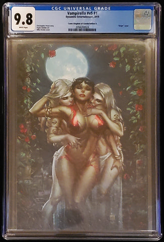 Vampirella #1 - CK Exclusive Virgin Variant - CGC Graded 9.8 Slab - Mike Krome / Ula Mos