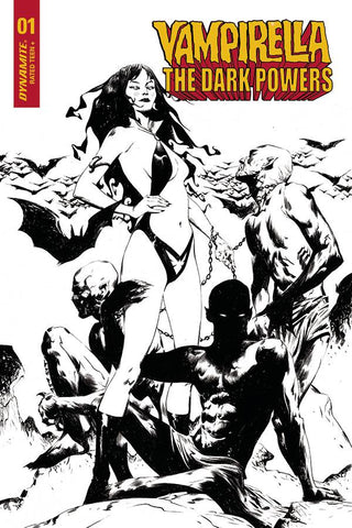 Vampirella: The Dark Powers #1 - 1:30 Ratio B&W Variant - Jae Lee