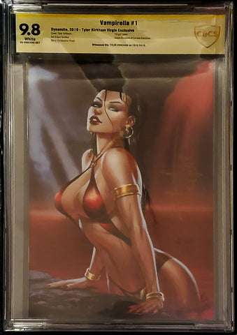 Vampirella #1 - Signed CK Exclusive Virgin Variant - CBCS Graded 9.8 Slab - Tyler Kirkham