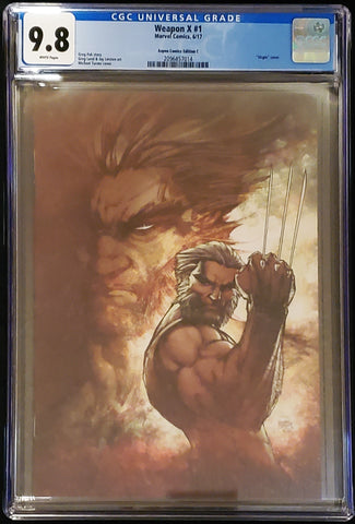 Weapon X #1 - Virgin Variant - CGC Graded 9.8 Slab - Michael Turner