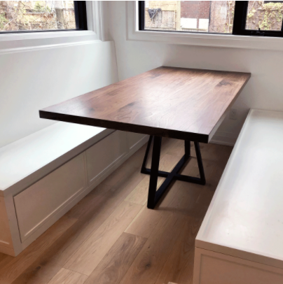 Custom wood dining table made in toronto