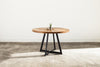 Pedestal Bistro Dining Table - Ambrosia Maple - Mid-Amber