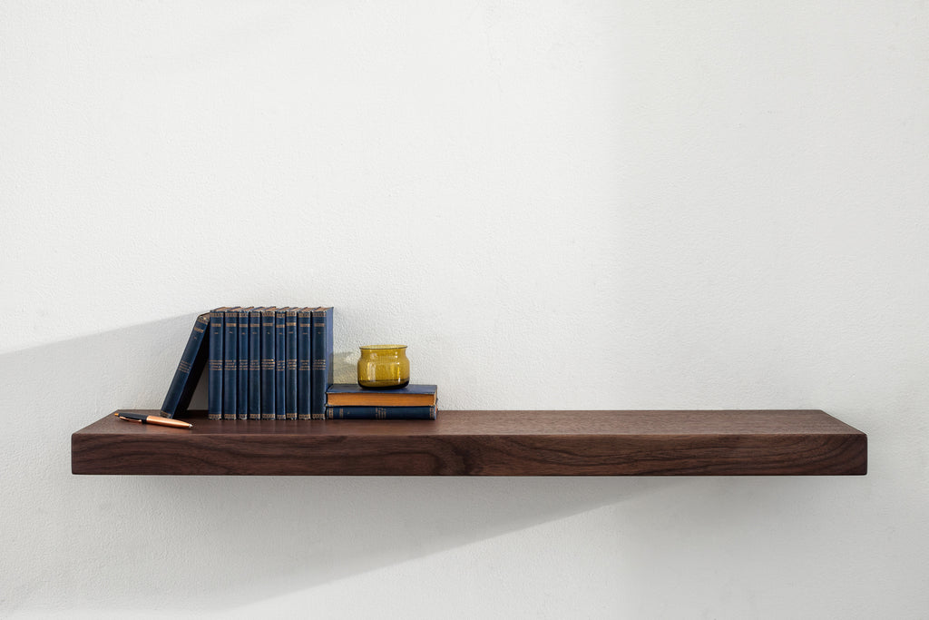 Stratus Floating Shelf with HOVR Bracket - Walnut