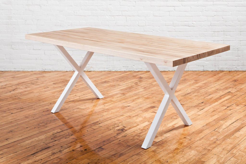 Straight Edge Dining Table - Ambrosia Maple - Natural