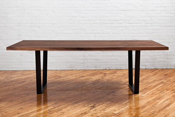 Straight Edge Dining Table - Walnut