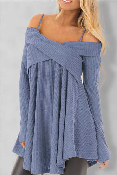 long-sleeve-off-shoulder-spaghetti-strap-flattering-smock-tunic-top