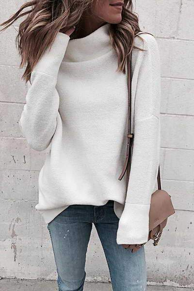 White Cowl Neck Top