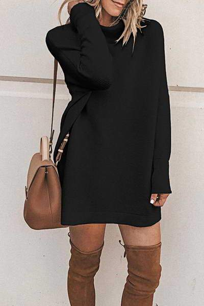 High Collar Tunic Dress