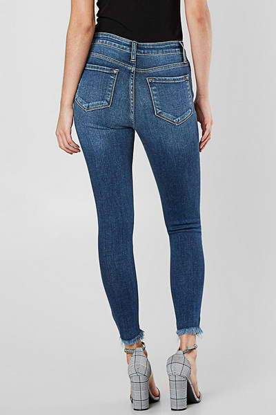 Button Fly Slim Jeans