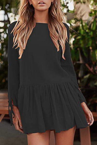 Drop Waist Mini Dress