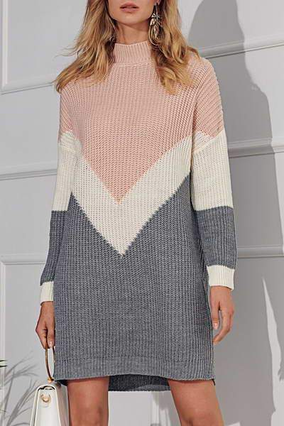 Knitted Chevron Dress