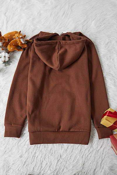 Drawstring Hooded Top