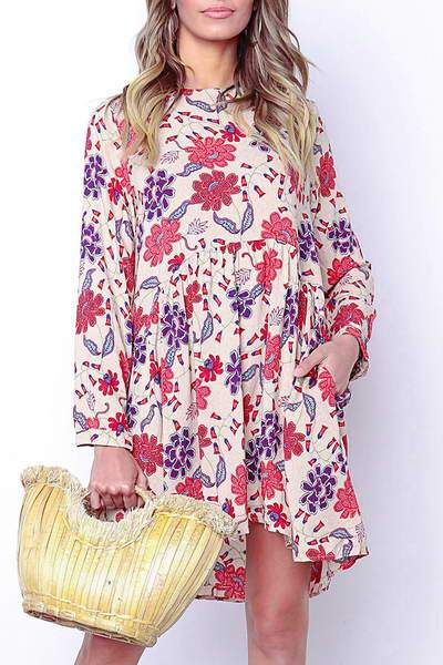 long-sleeve-round-neck-short-pretty-flower-print-tunic-swing-dress