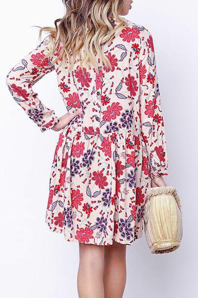 Floral Tunic Shift Dress