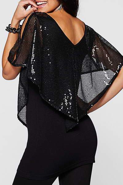 Sequined Handkerchief Top