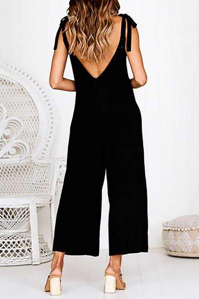 Tie Shoulder Jumpsuit
