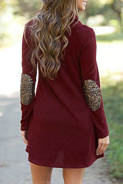 Sparkly Patch Tunic Dress