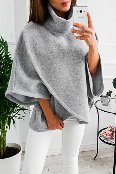 batwing-sleeve-cowl-neck-poncho-style-cozy-solid-color-sweater