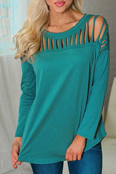 long-sleeve-round-slashes-cut-out-neck-flirty-plain-t-shirt-top