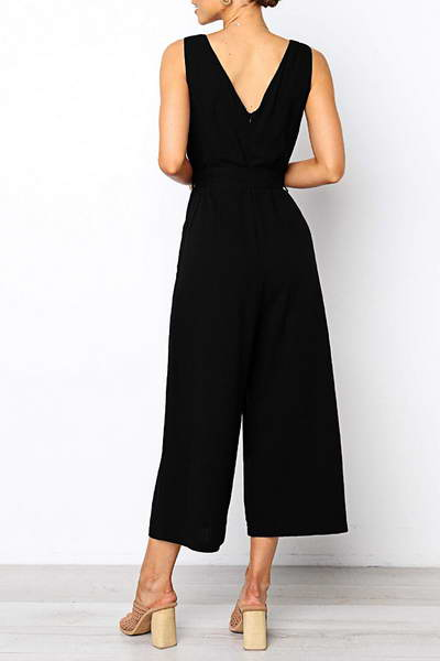 sleeveless-wide-leg-cropped-romper-chic-plain-v-neck-jumpsuit