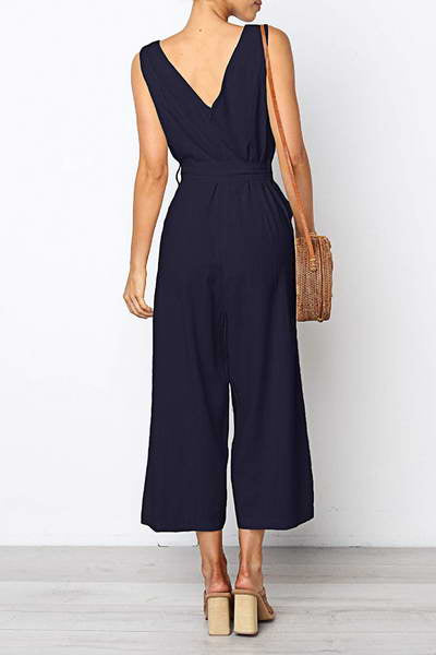Cropped Wide Leg Romper