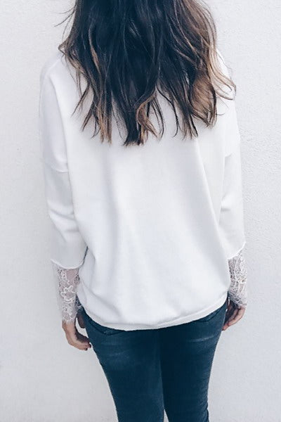 lace-sleeve-cuff-v-neck-top-long-pretty-plain-tunic-style-blouse