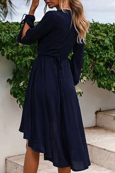 Tie Sleeve Midi Dress