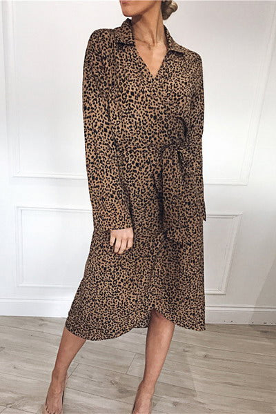 long-sleeve-shirt-collar-calf-length-chic-leopard-print-dress