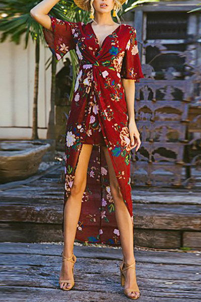 Twisted Flower Dress