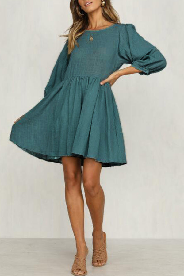 3/4 Sleeve Babydoll Dress