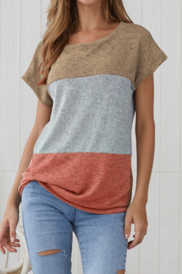 Color Block Stripe Tee