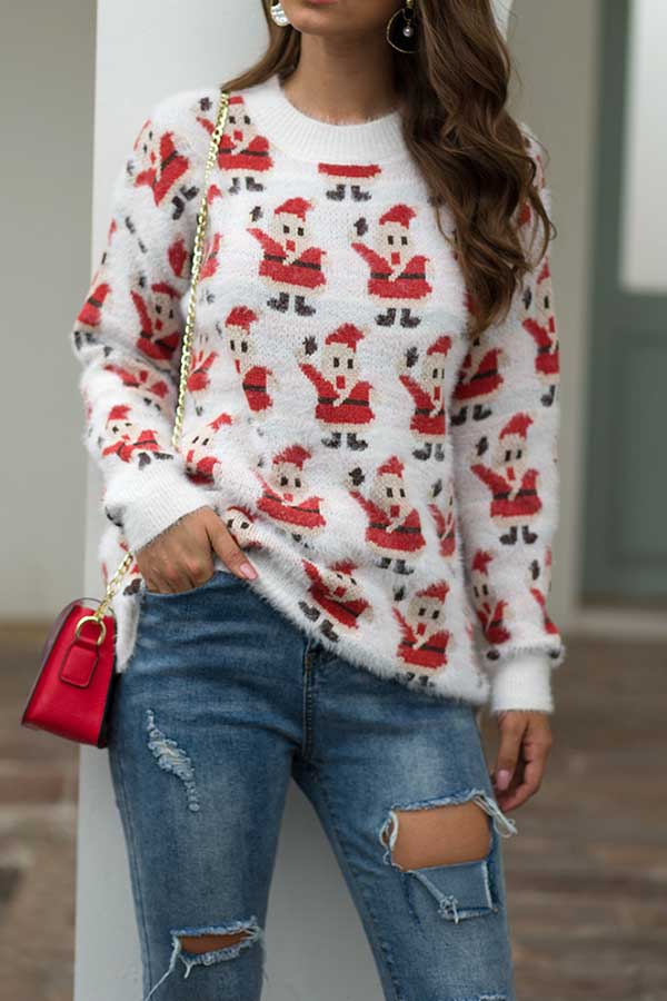 Christmas Long Sleeve Pullover Sweater