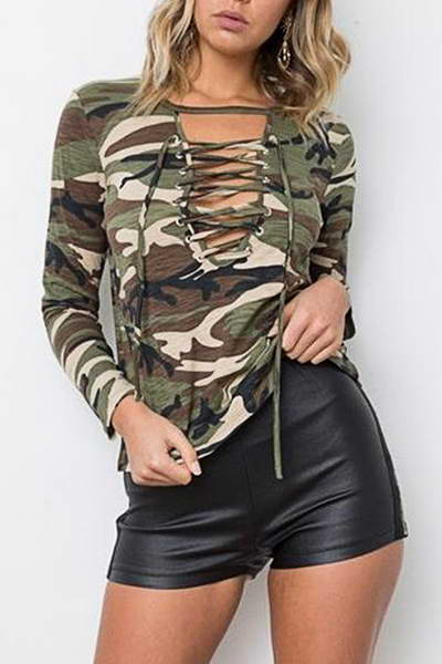 green-brown-long-sleeve-lace-up-neck-woodland-camouflage-t-shirt
