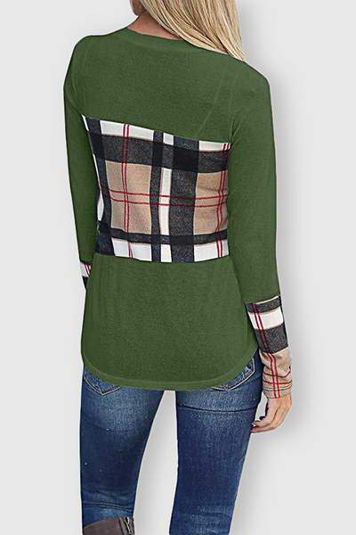 Plaid Block T-Shirt