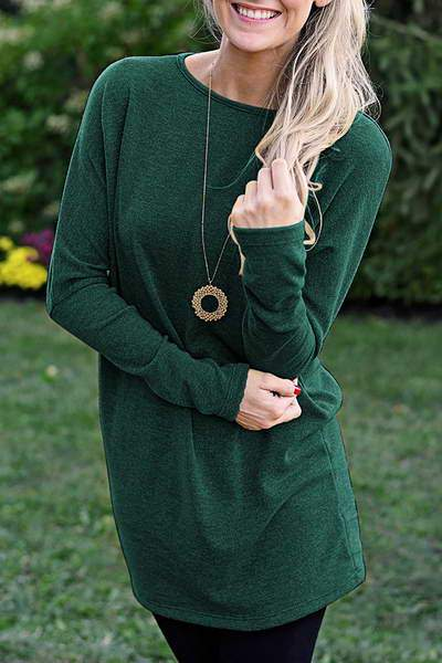 Basic Mini Tunic Dress