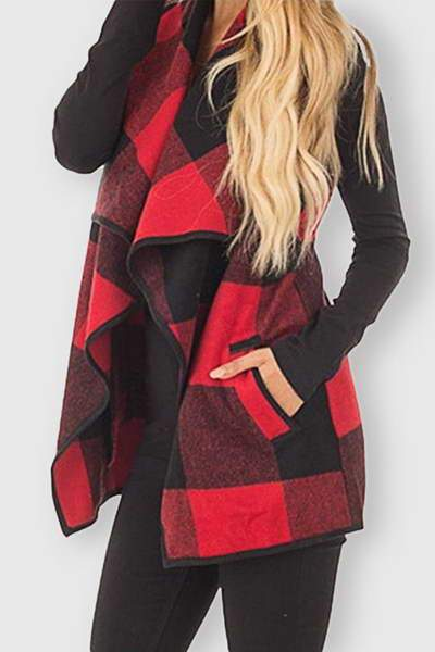 sleeveless-wide-collar-checked-long-chic-plaid-open-irregular-gilet